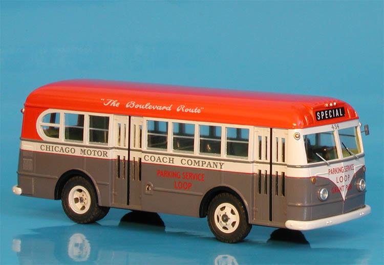 Model 1950 Gm Tdh 5103 Chicago Motor Coach Co 601 650